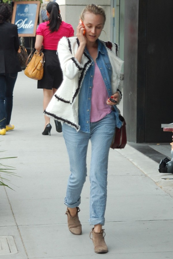 diane kruger brown shoes shoes jacket
