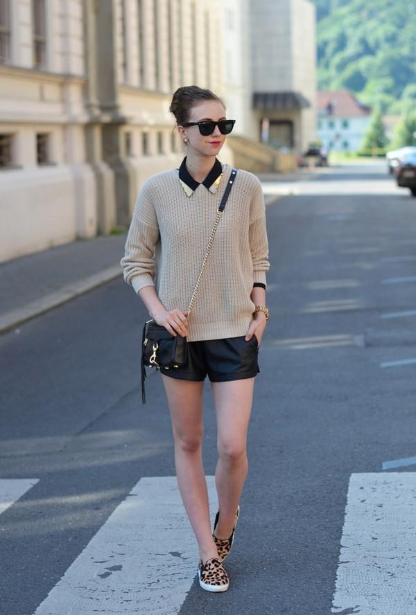vogue haus sweater blouse shorts bag sunglasses jewels