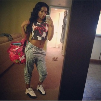 tank top t-shirt middle finger shoes dope sweatpants jordans chicks with kicks kicks with chicks crop tops iphone case legit make-up jeans the middle