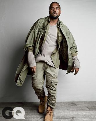 pants cargo pants kanye west gq urban menswear menswear mens pants khaki pants army green