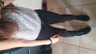 black pants blouse grunge soft grunge top creepers cool where did u get that