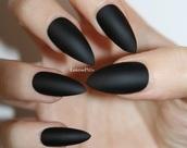nail polish,acrylic nails,black,cute,dope wishlist,dope shit,tumblr,tumblr girl,tumblr style,pointy nails