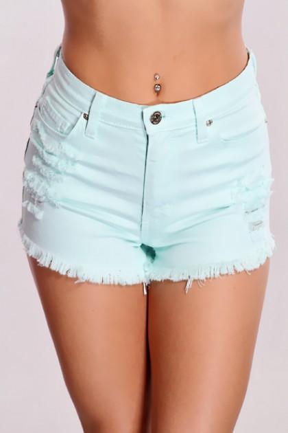 Distressed High Waist Shorts @ Amiclubwear Shorts,Women's Shorts ...