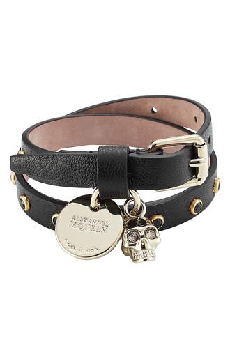 embellished leather black jewels