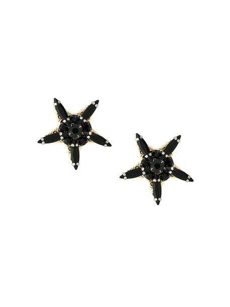 RADÀ women embellished earrings stud earrings black jewels