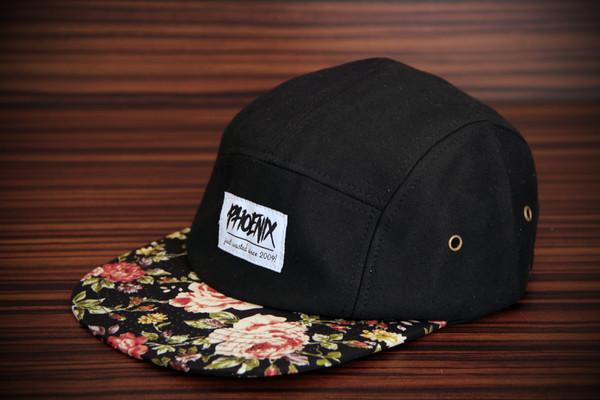 hat roses 5-panel cap 5-panel cap floral flower cap floral cap rose cap 5 panel hat
