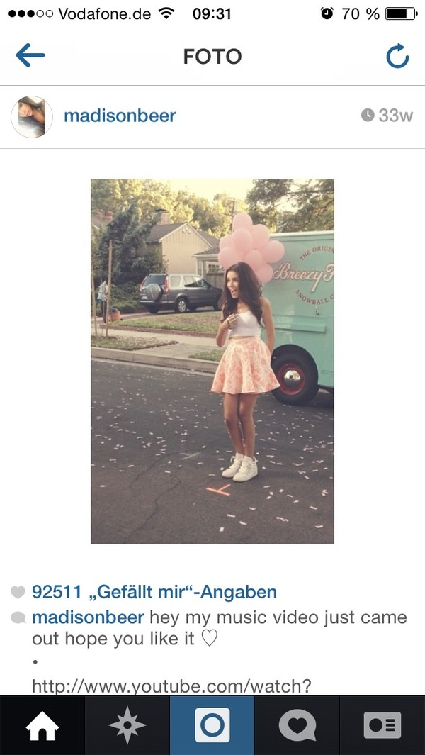 skirt madison beer pink white t-shirt
