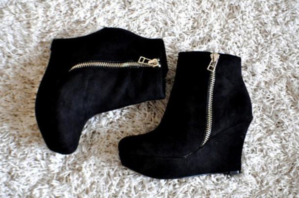 shoes, black, zip, heels, cute, fashion, girl, girly, swag