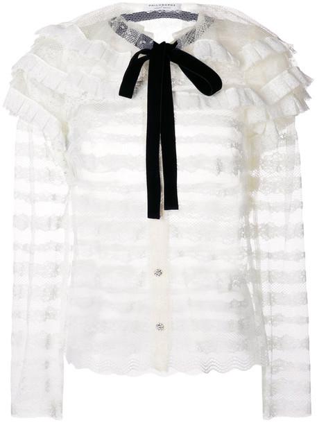 Philosophy di Lorenzo Serafini blouse women white top
