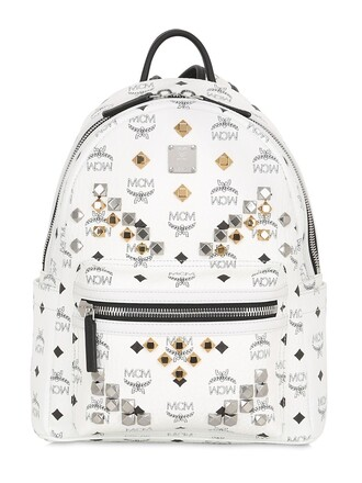 backpack leather backpack leather white bag