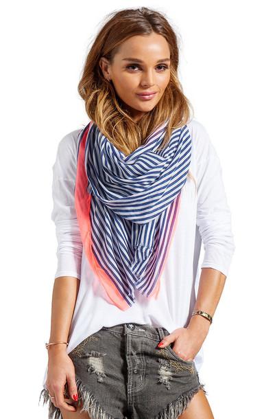 gorjana scarf navy