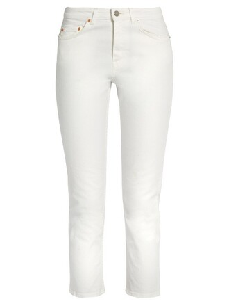 jeans cropped cotton white