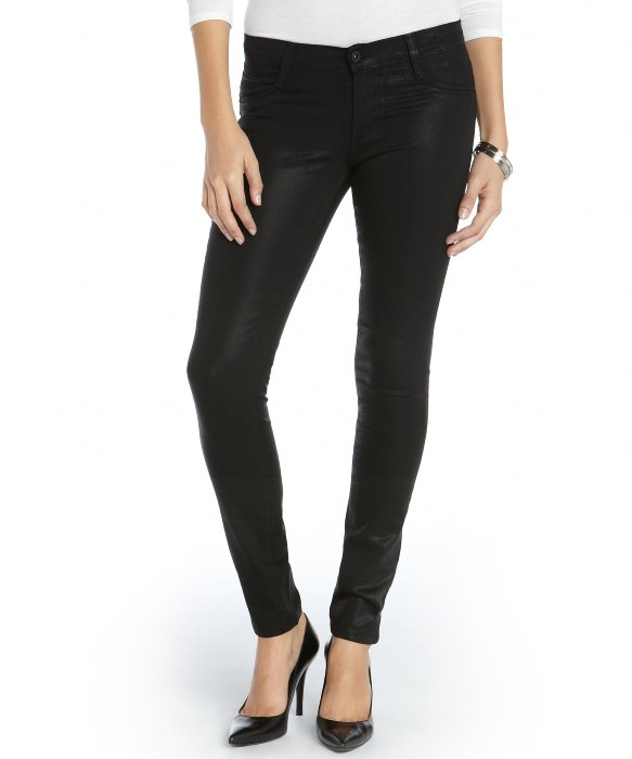 James Jeans black stretch cotton coated