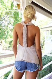 top,swing top,natural color,braid back,braided shoulders,braided straps,t back top,www.ustrendy.com