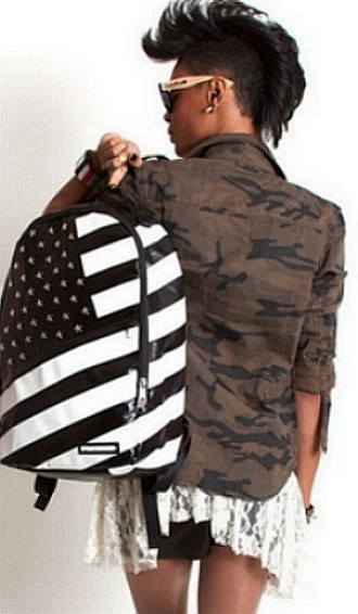 bag america dope black and white skater sprayground jacket army trendy leather
