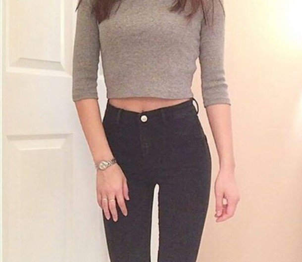 high waisted jeans outfit ideas tumblr