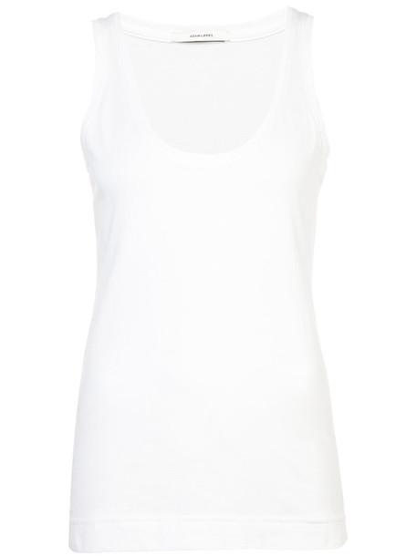 Adam Lippes - pima cotton tank - women - Supima Cotton - XS, White, Supima Cotton