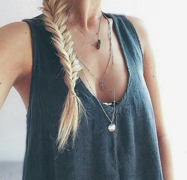 top blue tank top blue top fashion charcoal vest dark grey a t-shirt vest top shirt grey t-shirt