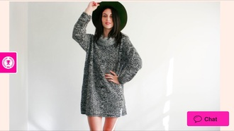 dress knit grey winter outfits