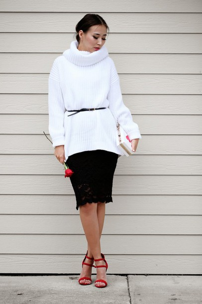 different cands blogger sweater skirt shoes