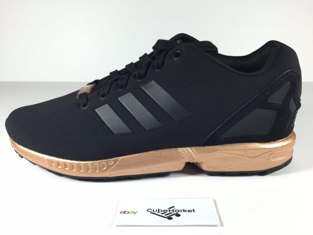 finest selection 49a85 cf0cd Adidas ZX Flux W Black Copper S78977 Rose Gold Size 5.5-8.5