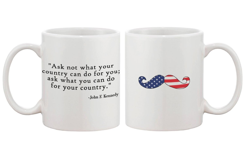 Amazon aladdin coffee mugs - Amazon Com American Flag Design Ceramic Coffee Mug Bold Statement John F Kennedy Quote Kitchen Dining