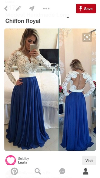 dress white lace blue maxi dress girly feminine trendy cute formal prom open back dressofgirl girl girly wishlist long prom dress blue prom dress chiffon prom dress long evening dress lace dress party dress a line prom gowns sexy prom dress elegant prom gowns