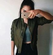 jacket,tumblr,grunge,tumblr outfit,pale,bomber jacket,aesthetic tumblr,pale grunge,khaki bomber jacket