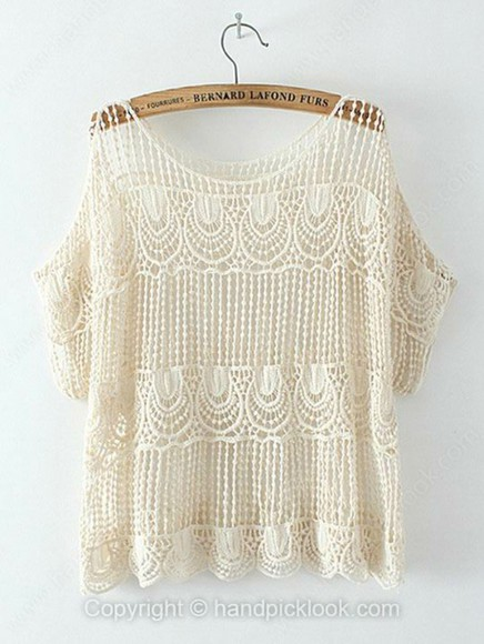 top crochet top crochet white cream
