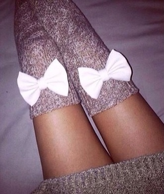 socks bows cute girly style