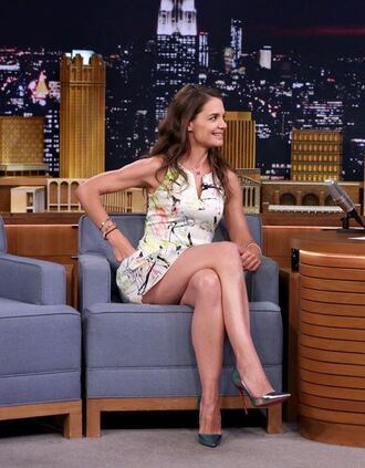 dress pumps katie holmes mini dress summer dress