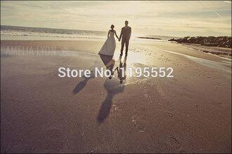dress wedding dress simple wedding dress beach wedding dress long wedding dress satin wedding dress beaded bride dress bridal gown