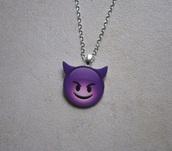 jewels,necklace,jewelry,emoji print,purple