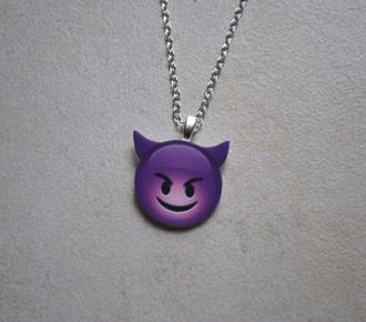 jewels necklace jewelry emoji print purple