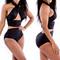 High waist bikini set