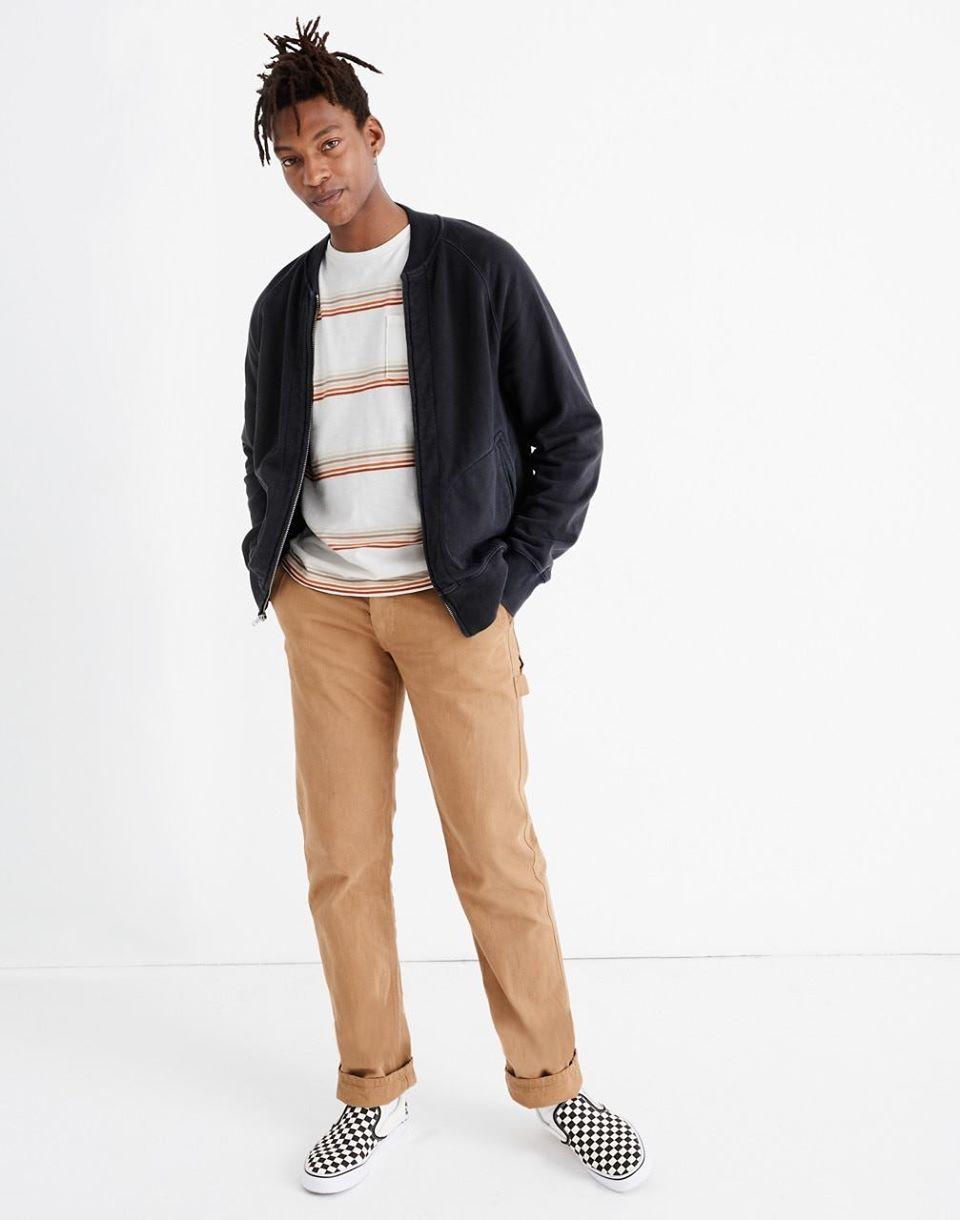 Men's Sweatshirt Bomber Jacket