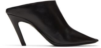 heel mules black shoes
