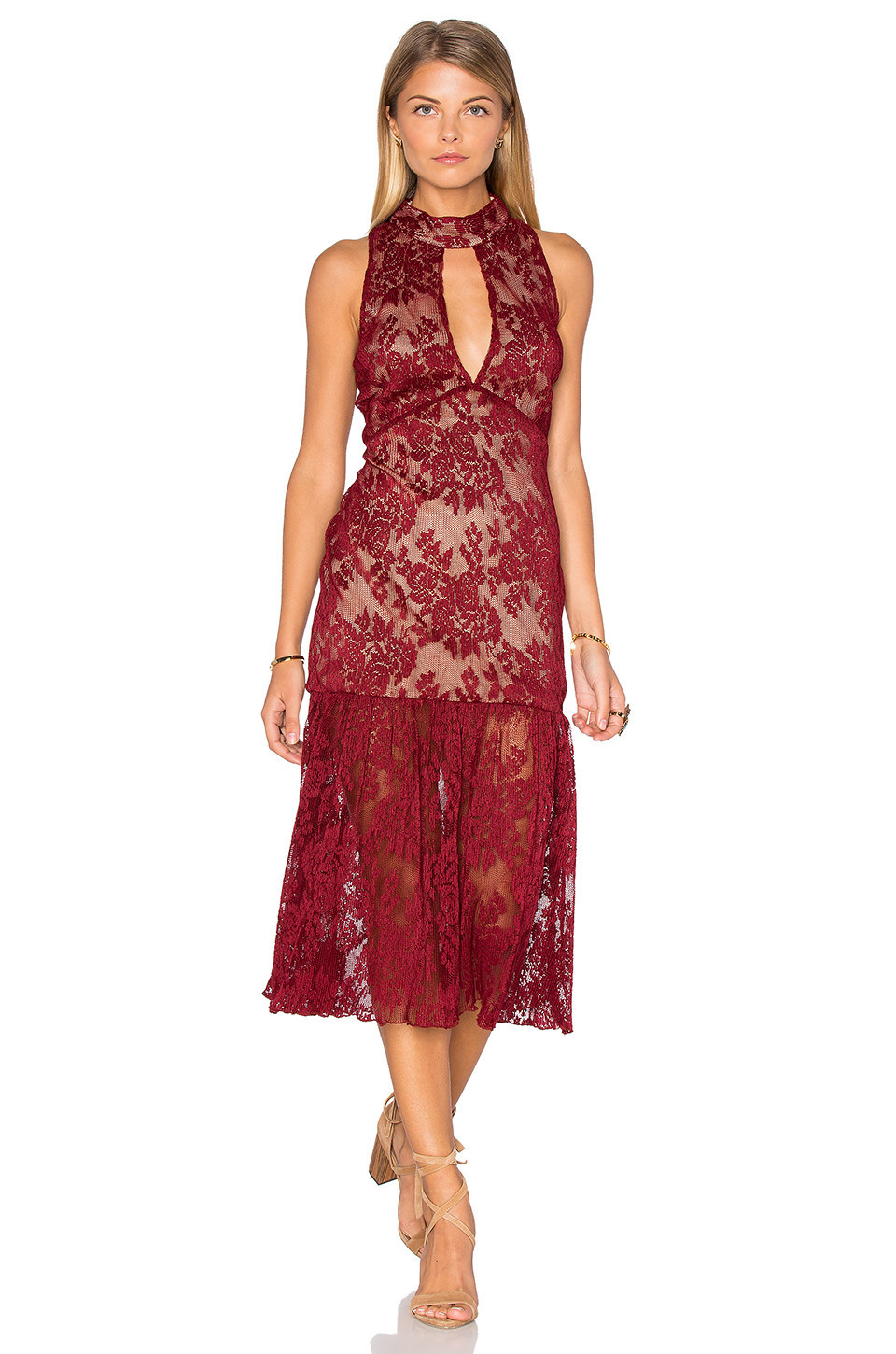 Endless Rose Long Sleeve All Over Lace Dress