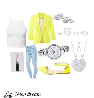 jacket neon yellow heels neon yellow neon neon blazer