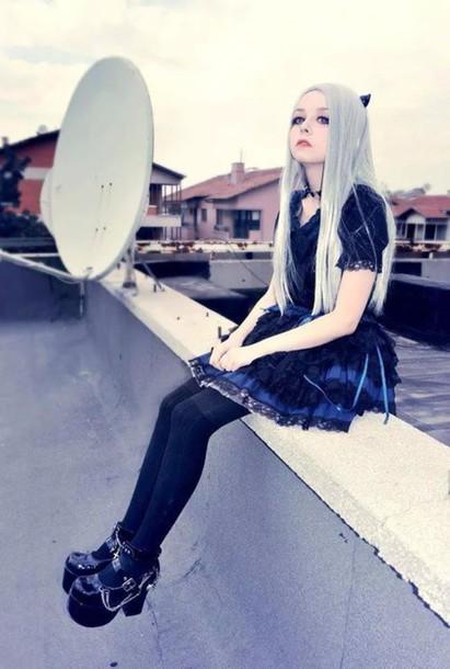 Pastel Pastel Goth Dress Shoes Platform Shoes Silver
