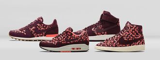 shoes nike shoes sportswear dots fall belmont nike x liberty liberty air max air force 1 nike blazer nike internationalist fall outfits burgundy ivy