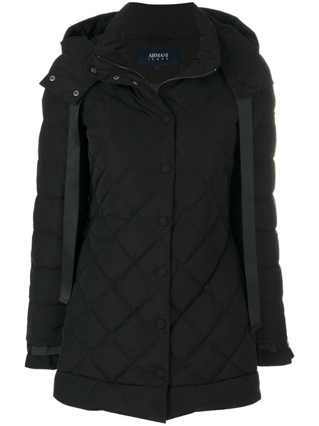 ARMANI JEANS coat women quilted black