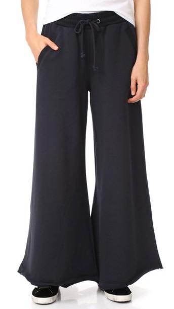 Free People pants track pants black