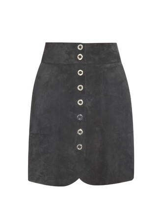 skirt mini skirt mini suede dark navy