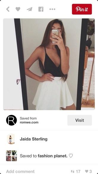 top black black top outfit pale
