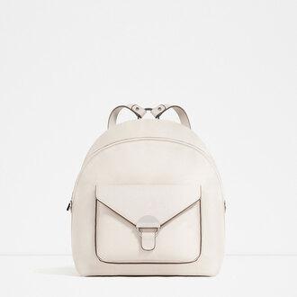 bag leather backpack minimalist zara