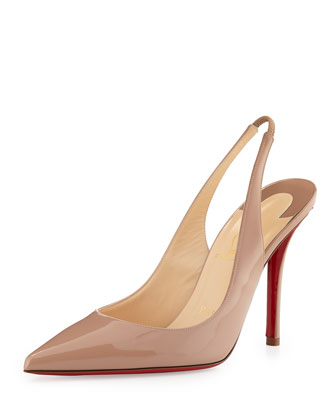 Christian Louboutin Apostrophy Red-Sole Slingback Pump, Beige - Bergdorf Goodman