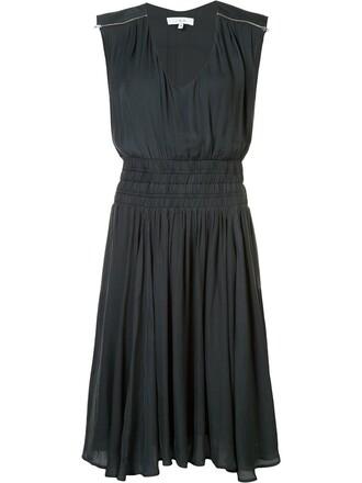 dress women silk grey