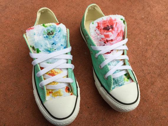 Tiffany bleu menthe floral converse chuck taylor chaussures femmes