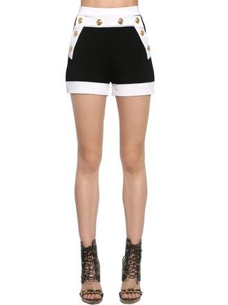 shorts gold knit white black